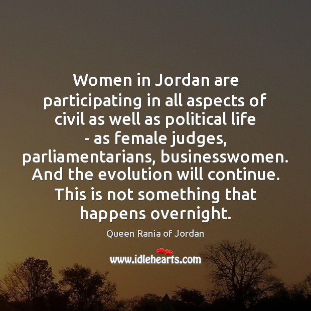 Women in Jordan are participating in all aspects of civil as well Image