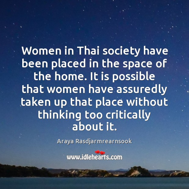 Image, Women in Thai society have been placed in the space of the