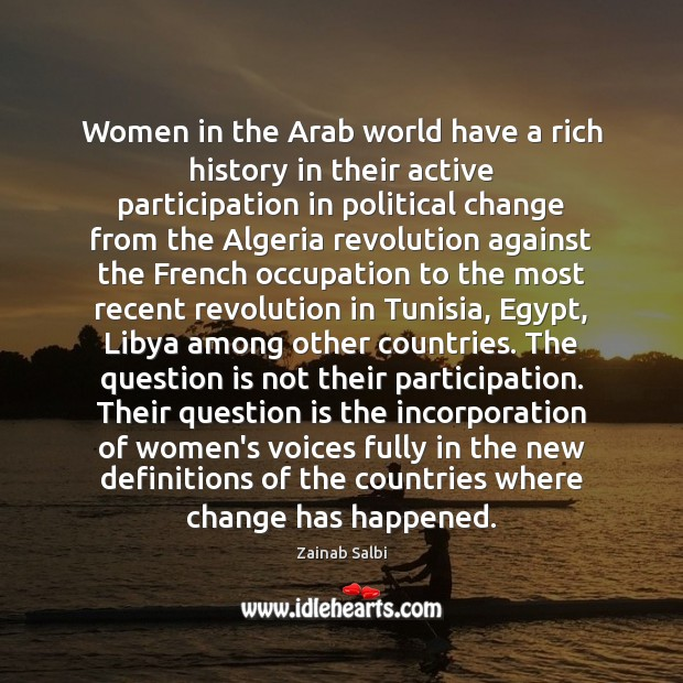 Women in the Arab world have a rich history in their active Image