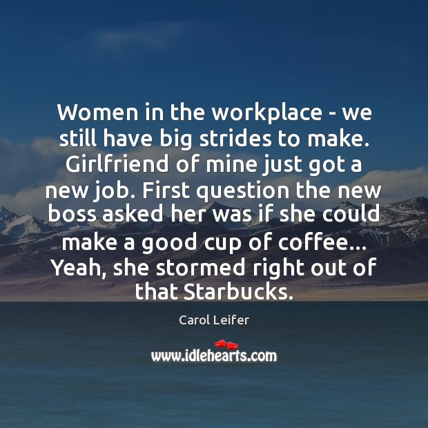 Women in the workplace – we still have big strides to make. Image