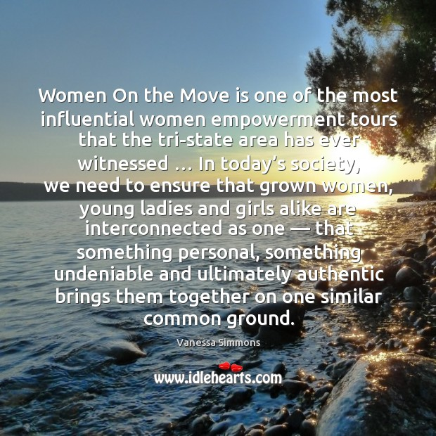 Women on the move is one of the most influential women empowerment Image