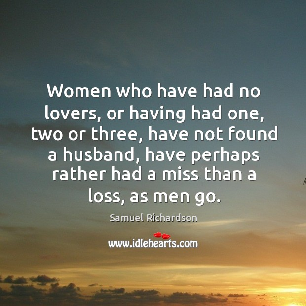 Women who have had no lovers, or having had one, two or three Image