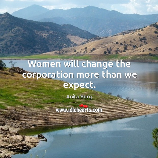 Image, Women will change the corporation more than we expect.