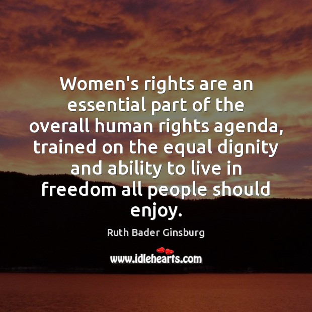 Women's rights are an essential part of the overall human rights agenda, Image
