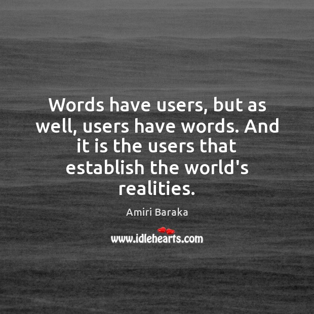 Image, Words have users, but as well, users have words. And it is