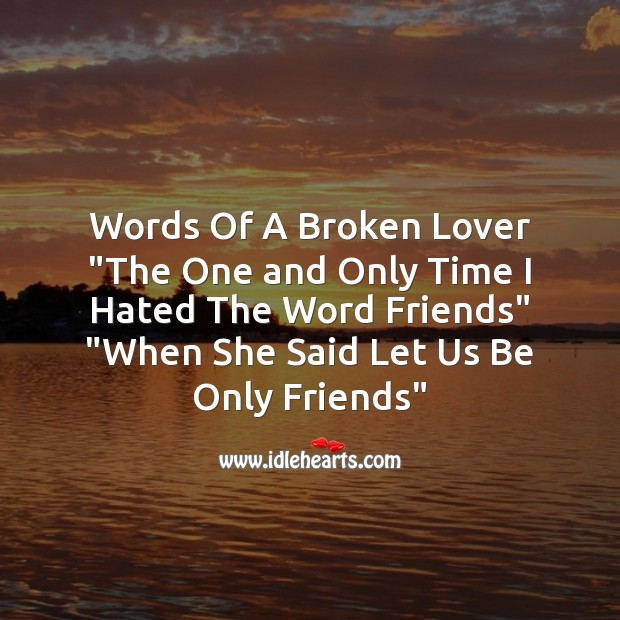 Words of a broken lover Sad Messages Image