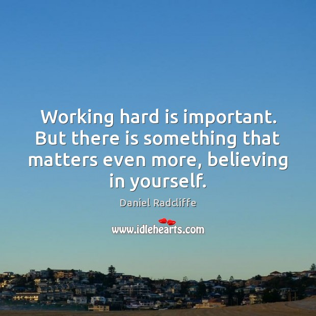 Working hard is important. But there is something that matters even more, Image