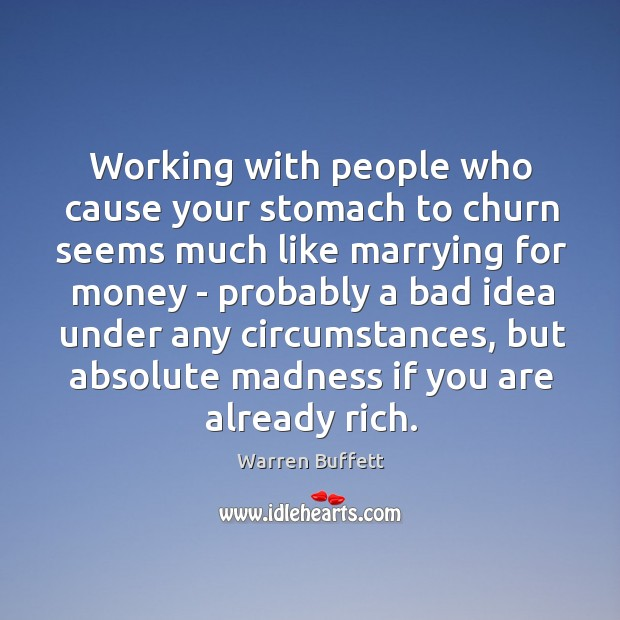 Working with people who cause your stomach to churn seems much like Image