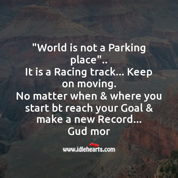 Image, World is not a parking place