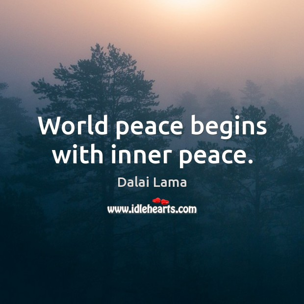 World peace begins with inner peace. Image