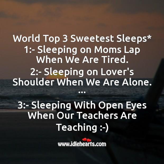 World top 3 sweetest sleeps Good Night Messages Image