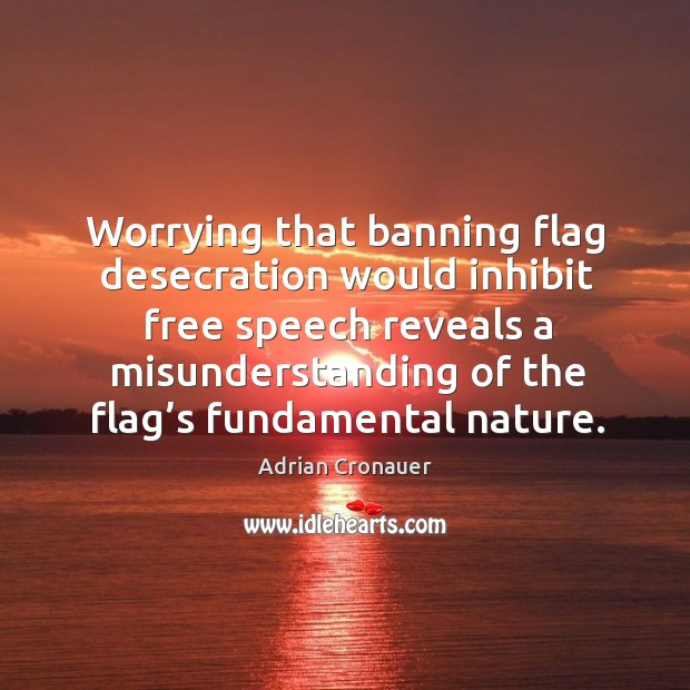 Image, Worrying that banning flag desecration would inhibit free speech reveals a misunderstanding