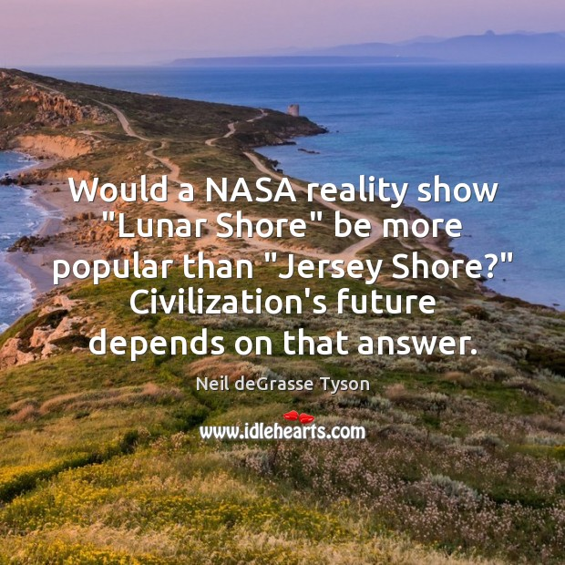 """Would a NASA reality show """"Lunar Shore"""" be more popular than """"Jersey Image"""