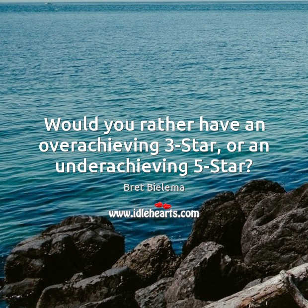 Would you rather have an overachieving 3-Star, or an underachieving 5-Star? Image