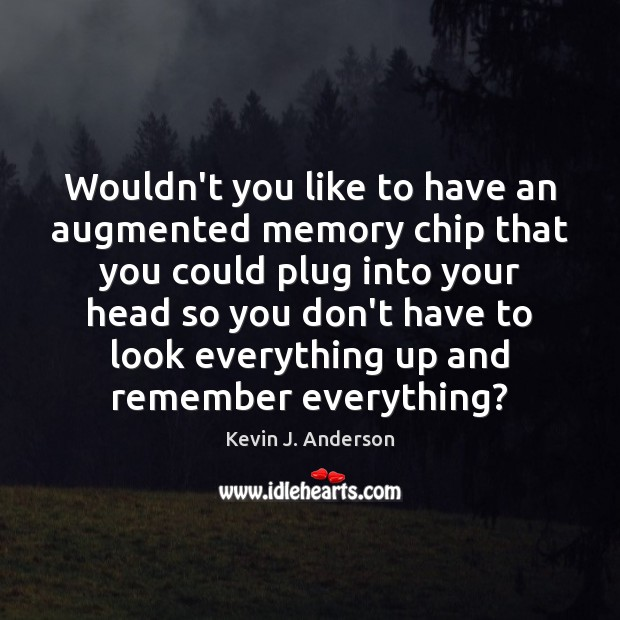Image, Wouldn't you like to have an augmented memory chip that you could
