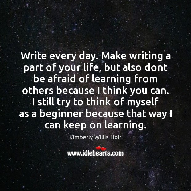 writing every day