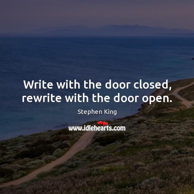 Image, Write with the door closed, rewrite with the door open.