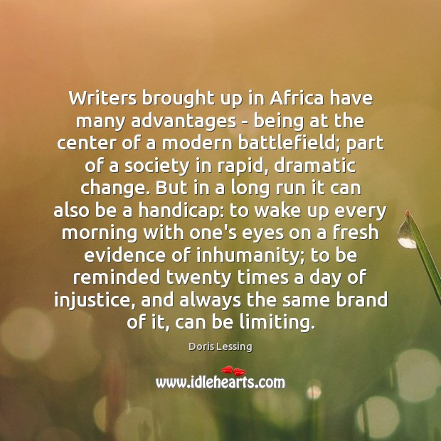 Image, Writers brought up in Africa have many advantages – being at the