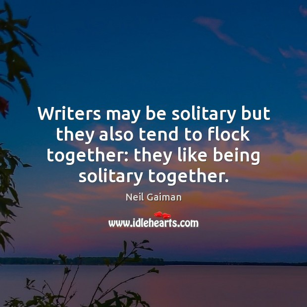 Image, Writers may be solitary but they also tend to flock together: they