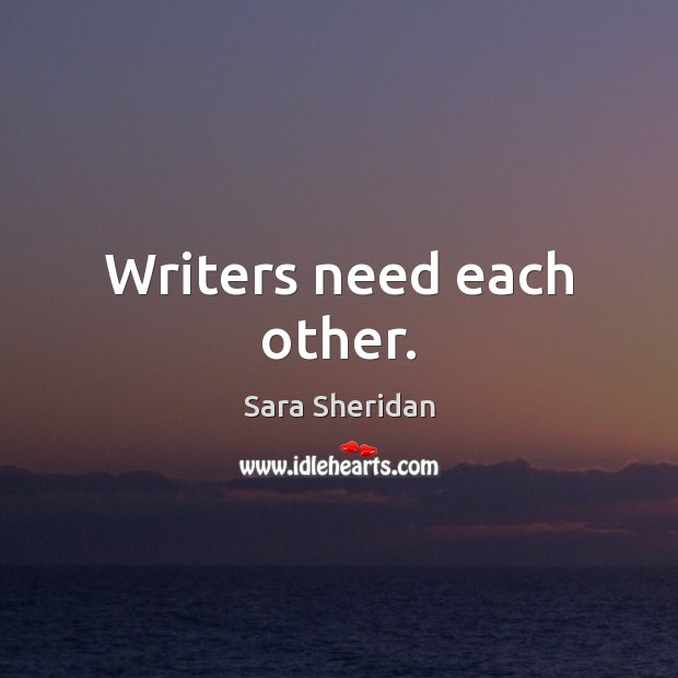 Writers need each other. Image