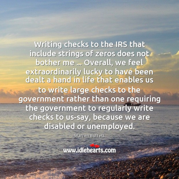 Image, Writing checks to the IRS that include strings of zeros does not