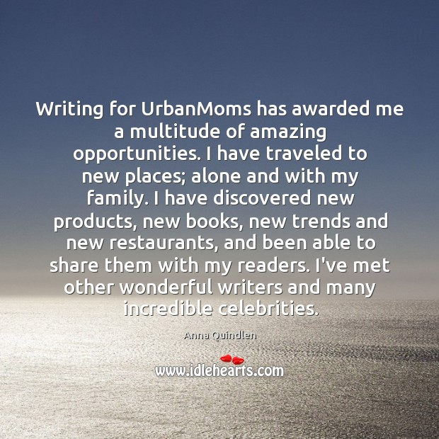 Writing for UrbanMoms has awarded me a multitude of amazing opportunities. I Image