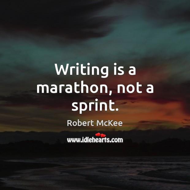 Writing is a marathon, not a sprint. Image