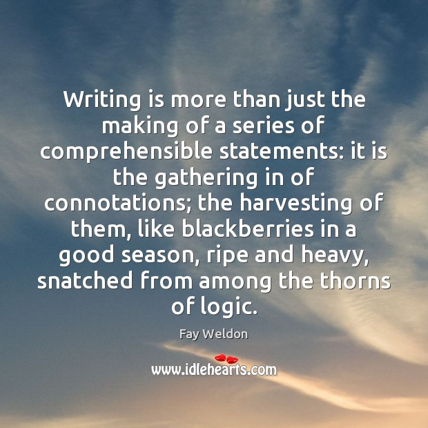 Writing is more than just the making of a series of comprehensible Image