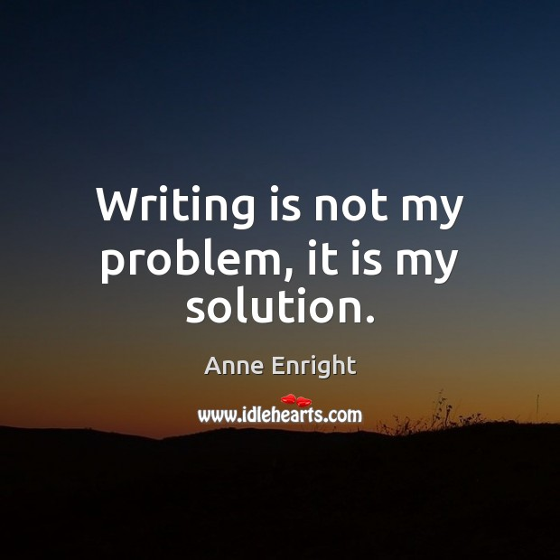 Image, Writing is not my problem, it is my solution.