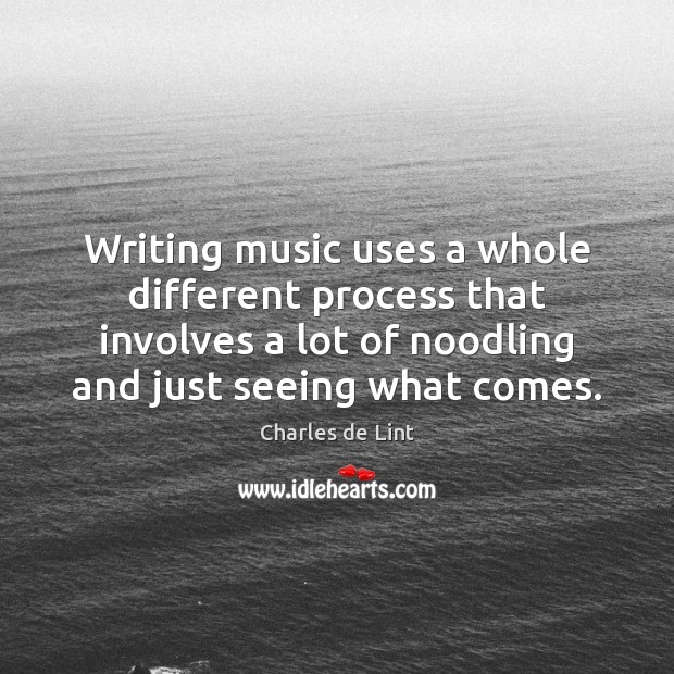 Writing music uses a whole different process that involves a lot of Image