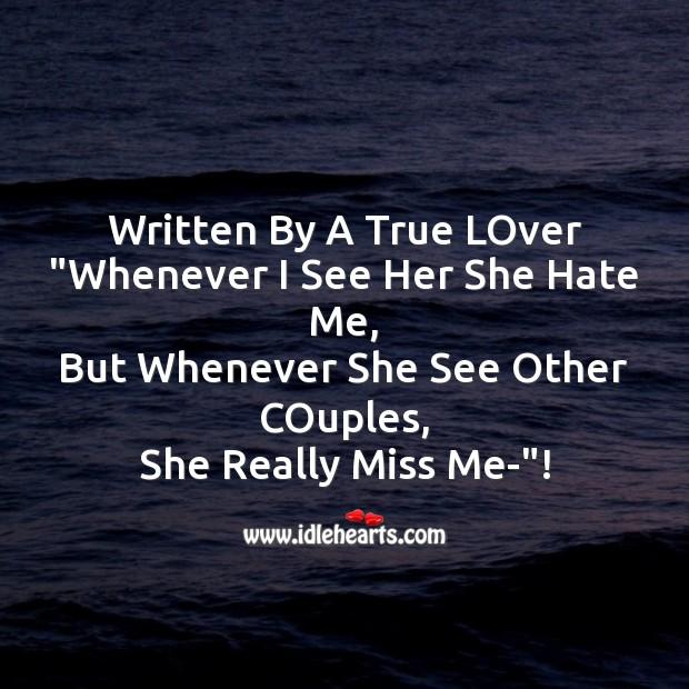 Image, Written by a true lover