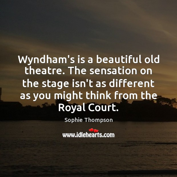 Wyndham's is a beautiful old theatre. The sensation on the stage isn't Image