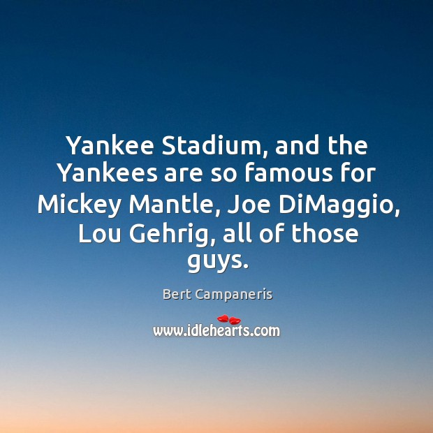 Image, Yankee stadium, and the yankees are so famous for mickey mantle
