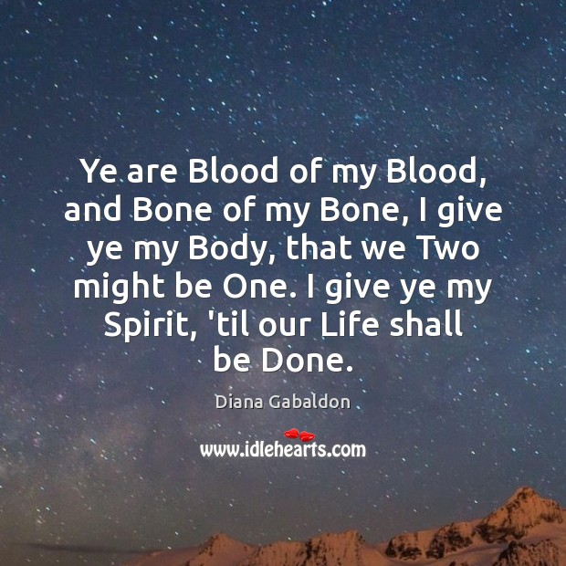 Image, Ye are Blood of my Blood, and Bone of my Bone, I