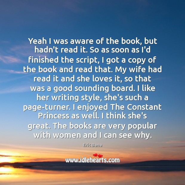 Yeah I was aware of the book, but hadn't read it. So Books Quotes Image