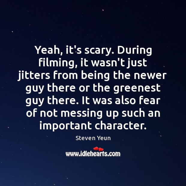 Picture Quote by Steven Yeun