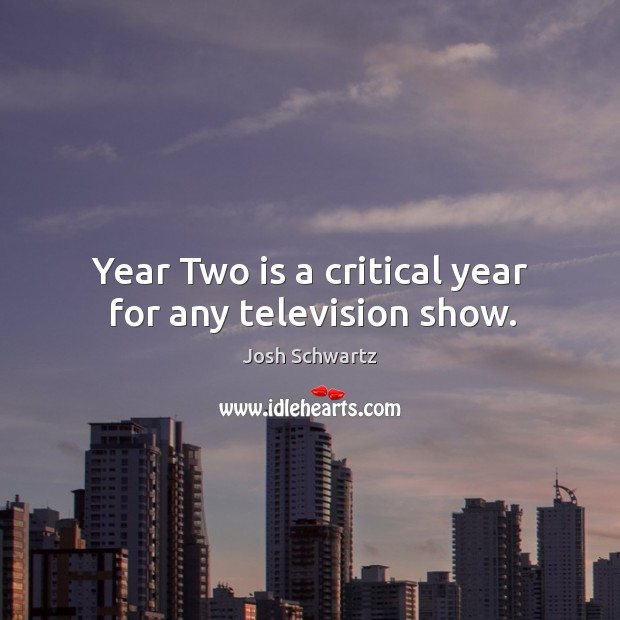 Image, Year two is a critical year for any television show.