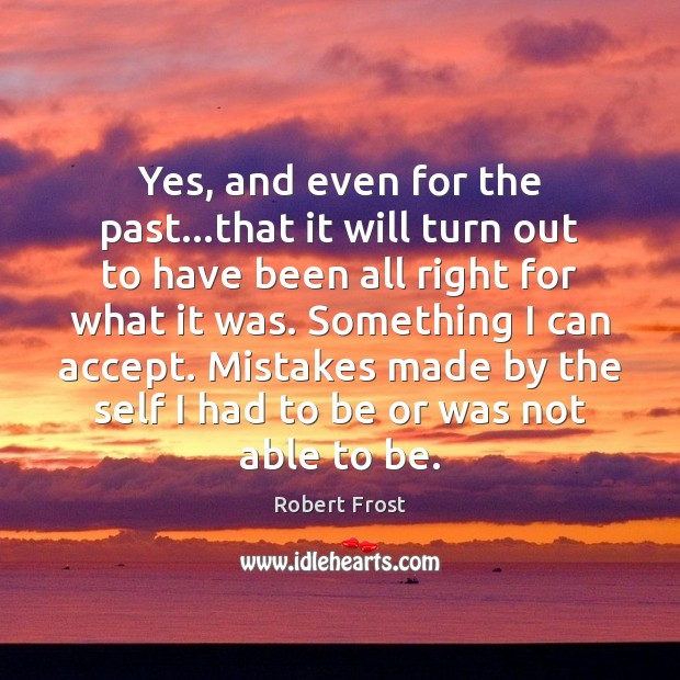 Yes, and even for the past…that it will turn out to Image