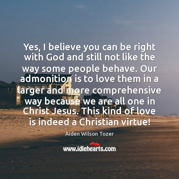 Image, Yes, I believe you can be right with God and still not