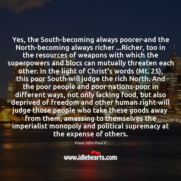 Yes, the South-becoming always poorer-and the North-becoming always richer …Richer, too in Image