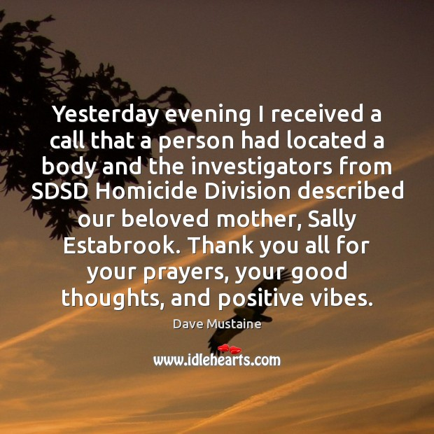 Image, Yesterday evening I received a call that a person had located a