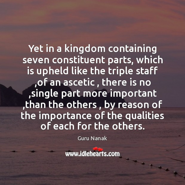 Image, Yet in a kingdom containing seven constituent parts, which is upheld like