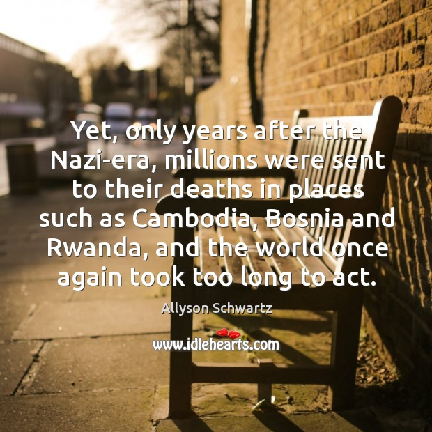 Yet, only years after the nazi-era, millions were sent to their deaths in places such as cambodia. Image