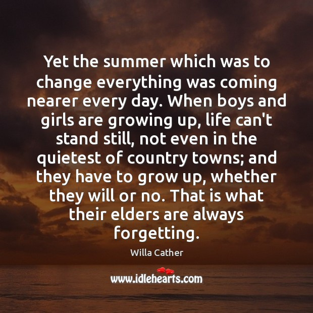 Image, Yet the summer which was to change everything was coming nearer every