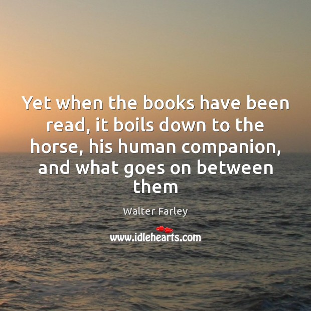 Yet when the books have been read, it boils down to the Image
