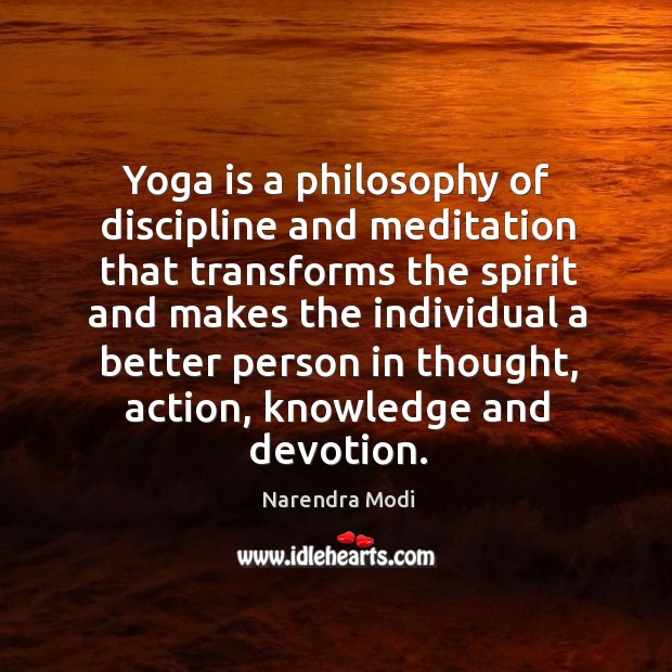 Image, Yoga is a philosophy of discipline and meditation that transforms the spirit