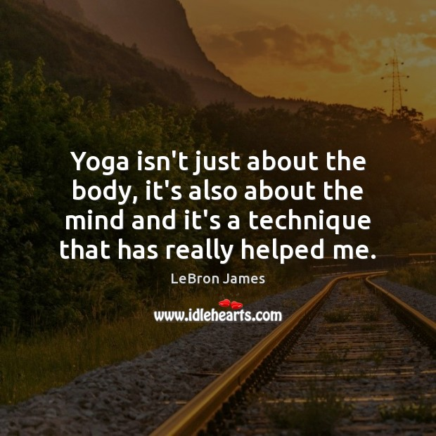 Yoga isn't just about the body, it's also about the mind and Image