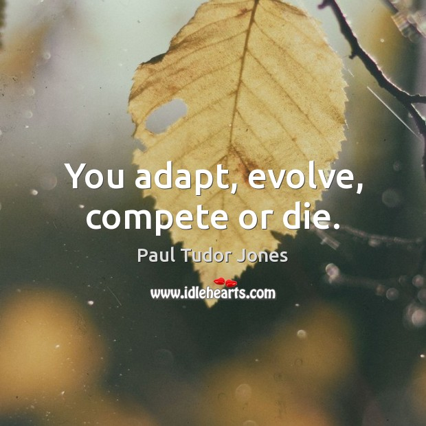 You adapt, evolve, compete or die. Image