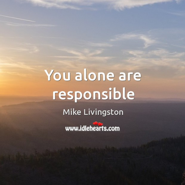 You alone are responsible Image