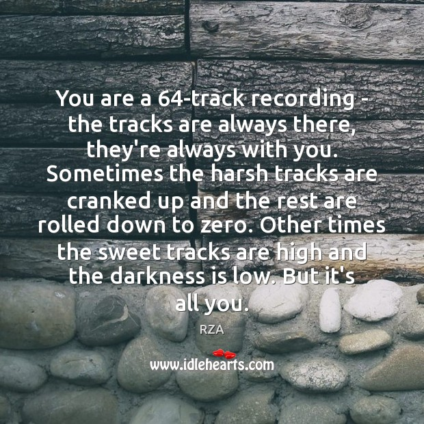 You are a 64-track recording – the tracks are always there, they're RZA Picture Quote